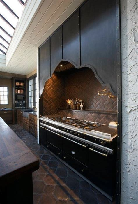 dark  gothic kitchen designs