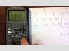Putting matrices into Ti89 YouTube
