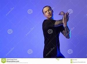Fashion Photo Shoot Of Sport Fit Attractive Man Making Arm ...
