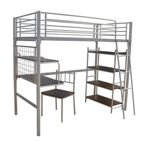 buy bunk bed single desk combo with ladder