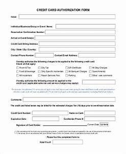 Credit Card Payment Authorization Form Template Free 10 Sample Credit Card Authorization Forms In Ms Word