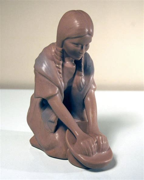 Briggle L by Briggle Pottery Hopi Maiden Figure From