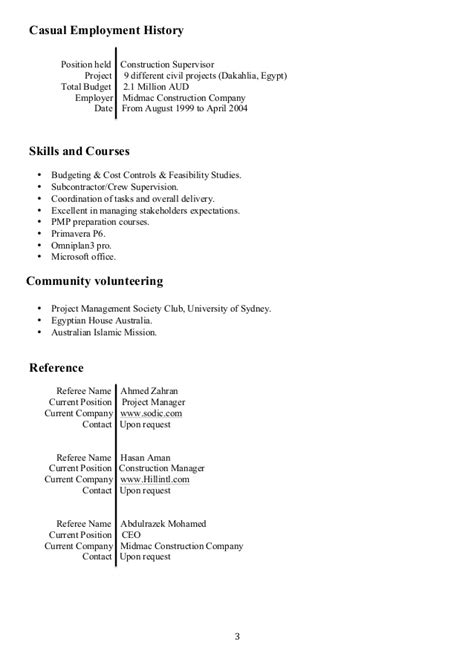 Resume Overlapping Dates by Resume