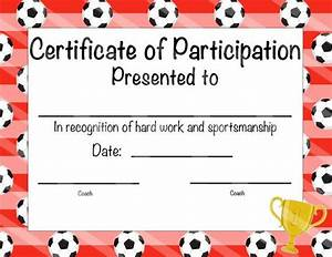 Soccer Certificate Of Achievement Soccer By