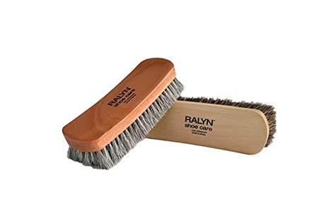 shoes brushes horse horsehair hair bristles buff shine shoe boots professional care leather amazon vary pack