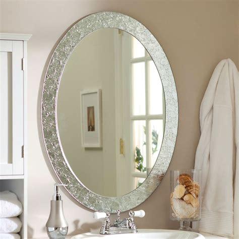 oval frame  bathroom vanity wall mirror  elegant