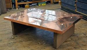 Copper and wood coffee table coffee table design ideas for Copper and wood coffee table