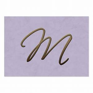 cursive monogram - M Large Business Cards (Pack Of 100 ...