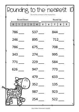 rounding numbers to the nearest ten 10 or hundred 100