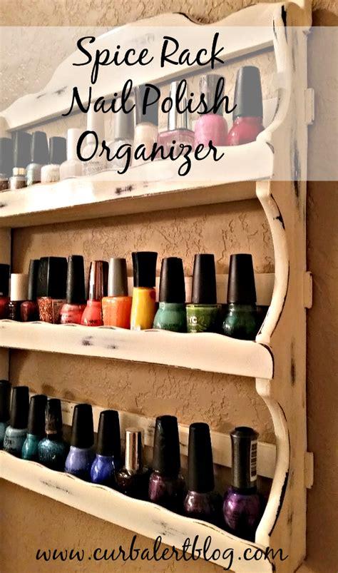 curb alert spice rack nail polish organizer share