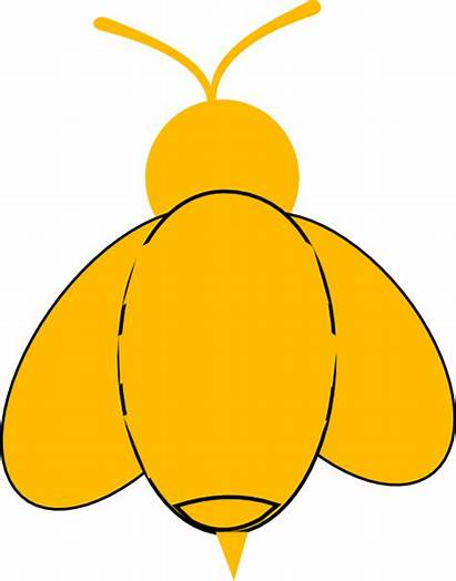 Bumble Yellow Bee Clip Bees Clipart Clipartmag