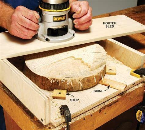 flattening  grain   router  woodworkers shop