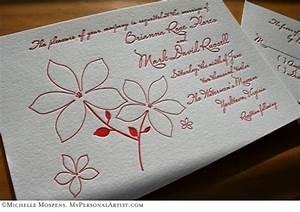red letterpress wedding invitations custom invitations With letterpress wedding invitations wholesale