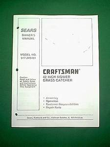 Sears Craftsman Riding Mower 42 U0026quot  Twin Bagger Model