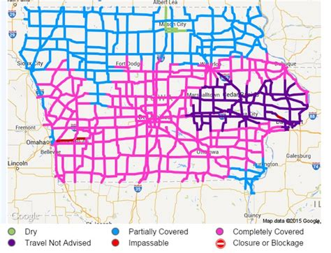 iowa department of transportation road conditions map