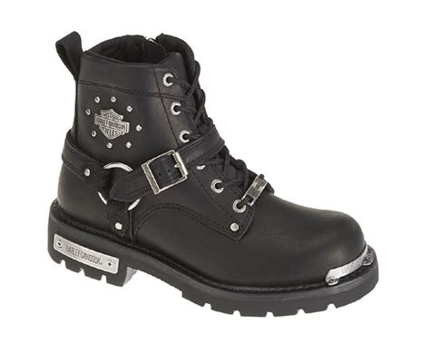 Motorcycle Boots : Harley-davidson Women's Becky 5.5-inch Black Leather