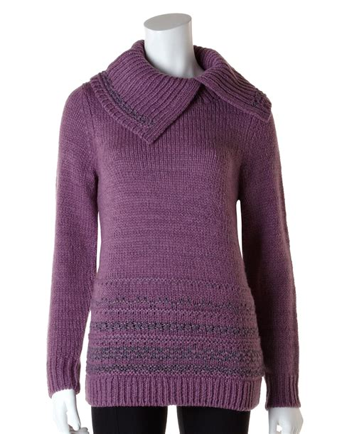 plum sweater plum pullover lurex sweater cleo