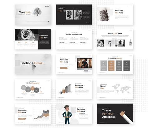 creative powerpoint template pixelify   fonts