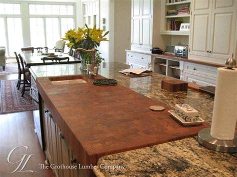 teak butcher block countertop in