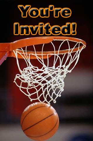 basketball theme party invitations basketball theme