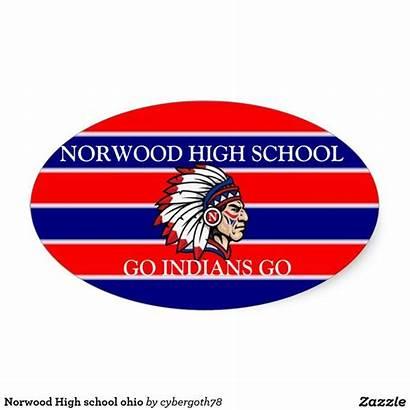 Norwood Ohio Stickers Zazzle Sticker Cincinnati Oval