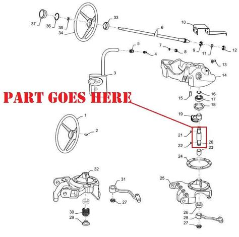 New Steering Worm Gear Shaft For Farmall Tractors Usa