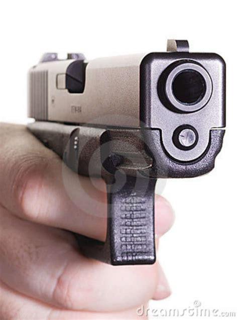 glock  pointing stock photo image  crime glock