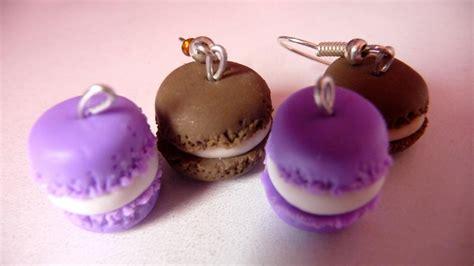en pate fimo macarons violets en p 226 te fimo