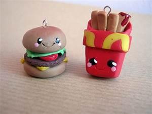 Cute Handmade Kawaii Polymer Clay Fast Food charms by ...