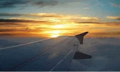 Plane Window Aeroplane Clouds путешествие Sunset Lapse