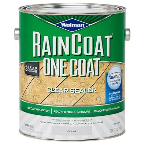 wolman raincoat  coat clear sealer oil based