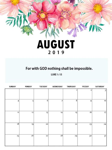 cute august  calendar colorful design net market