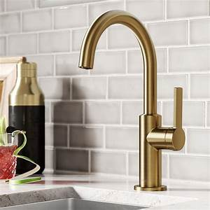 Oletto, Single, Handle, Kitchen, Bar, Faucet, In, Brushed, Brass, -, Walmart, Com