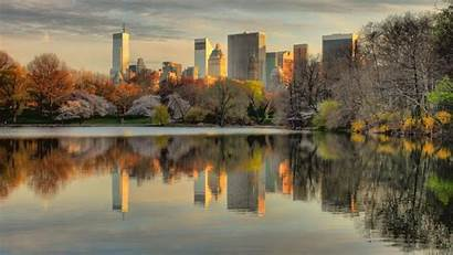 Central Park York Nyc Sunset Wallpapers Hdr