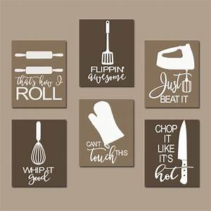 Kitchen quote wall art funny utensil pictures canvas by