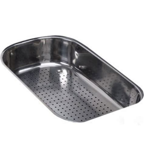 the sink colander stainless steel kitchen sink accessories oceania polished stainless