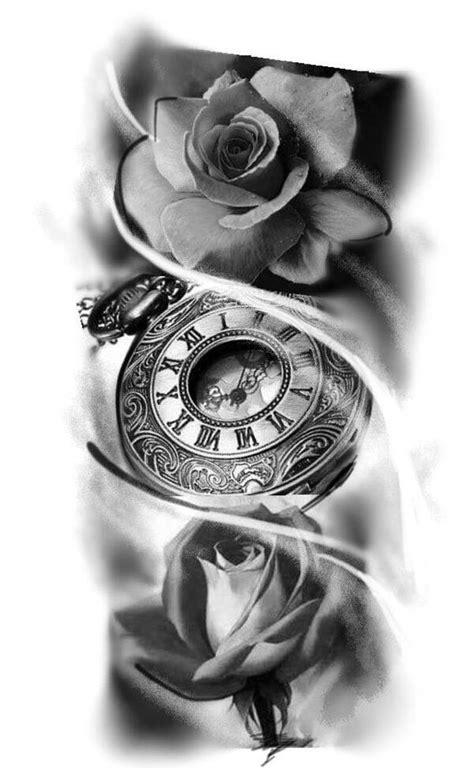cool rose  clock tattoos pop tattoo tattoos tattoo designs clock tattoo design