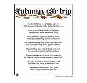 Fall Kids Poems  Autumn Car Trip Woo Jr Activities