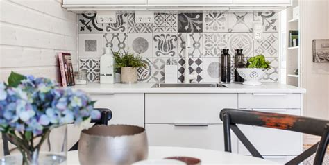 patterned tiles for kitchen black and white pattern cement tiles interiors by color 4108