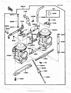Kawasaki Motorcycle 1987 Oem Parts Diagram For Carburetor