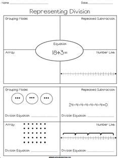 division  repeated subtraction worksheet grade