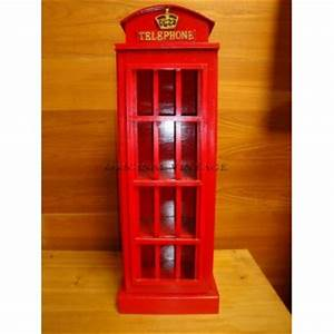 Meuble de rangement cabine telephonique avec etageres for Meuble cabine telephonique anglaise