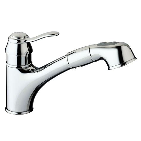 kitchen sink faucet with pull out spray grohe ashford single handle pull out sprayer kitchen