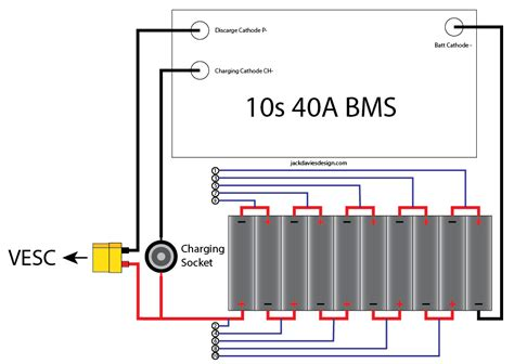 18650 Battery Series Wiring Diagram by 10s 18650 Bms Battery Build Esk8 Electronics Electric
