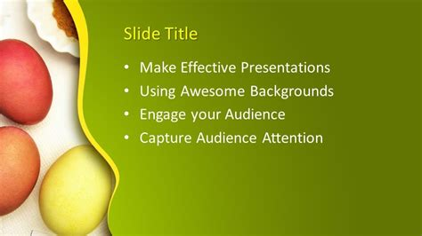 eggs powerpoint template  powerpoint templates