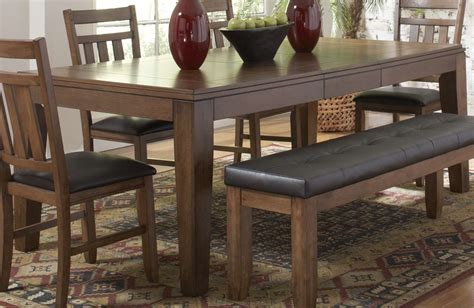 dining table rectangle rectangle brown walnut wood dining table with black vinyl 3336