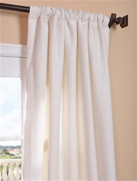 buy mineral white heavy faux linen curtain at lowest price