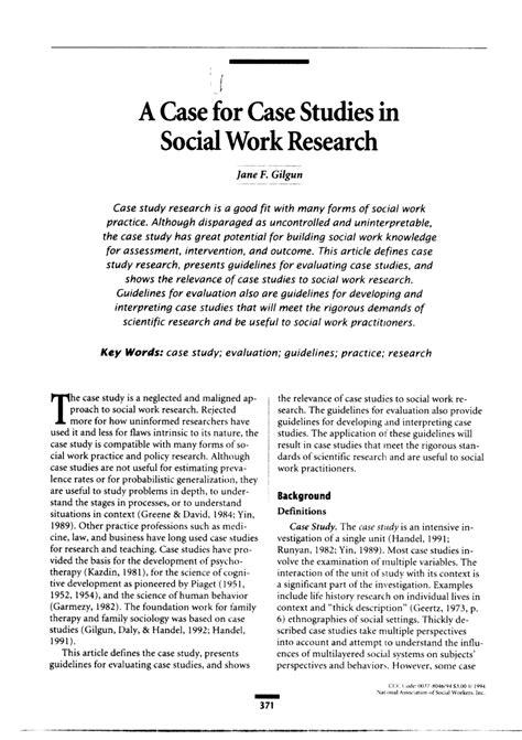 case  case studies  social work research