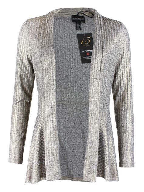 Frank Lyman Metallic Silver And Gold Cardigan Cilento