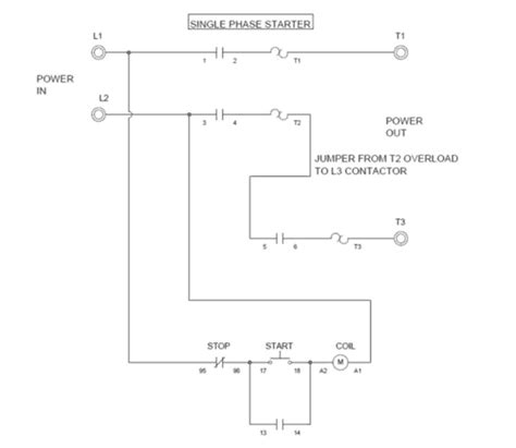 wiring  single phase motor    phase contactor
